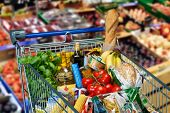 Shopping Cart With Foods