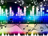 Rainbow Music Background Means Pop Rock Or Rap.