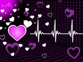 Purple Heart Background Means Organ Blood And Grid .