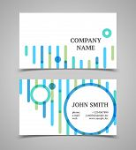 Modern Blue And Green Business Card Template.