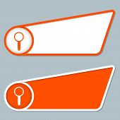 Two Orange Boxes For Any Text With Magnifier