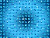 Blue Squares Background Shows Light Glinting And Celebration.