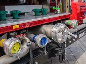 Valves Of A Modern Dutch Fire Truck