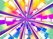 Wheel Background Means Beams Chromatic And Rectangles.