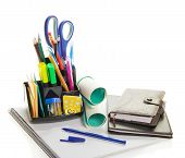 Office supply, diary and the notepad