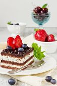 Cake And Fresh Fruit