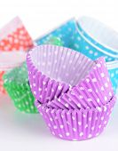 Colorful cupcake wrappers, close-up