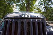 Car cowl UAZ on show of collection Retrofest cars