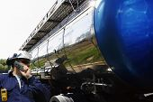 image of tank truck  - industry worker - JPG