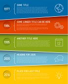 Vector modern horizontal Infographic timeline report template with icons