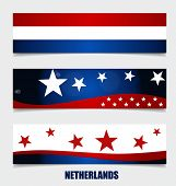 Netherlands, Flags concept design. Vector illustration.