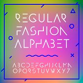 Fashion alphabet letters collection