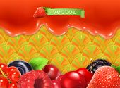 Sweet berry background, vector illustration