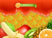 Fruity sweet background, vector illustration