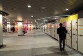 Tokyo - November 23: Locker In Tokyo Shibuya Station On November 23, 2013 In Tokyo.