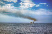 Ship In Blue Sea