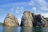 Rocks , Sea And Blue Sky