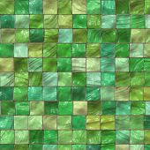 The image of a green ceramic tile close up