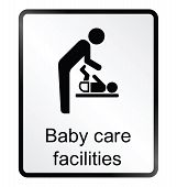 Baby Care Facilities Information Sign