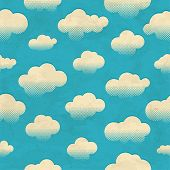 Clouds in the sky. Seamless pattern