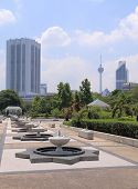National Mosque and KL tower Kuala Lumpur