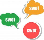 Swot. Set Of Stickers, Labels, Tags. Template For Infographics
