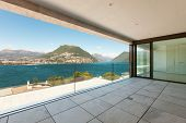 image of penthouse  - beautiful penthouse with panoramic veranda on the lake - JPG