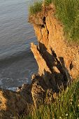 Clay cliff erosion.