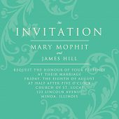 Invitation with a rich background in Renaissance style. Template framework Wedding invitations or an