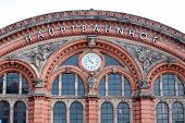 Big German Railway Station Facade