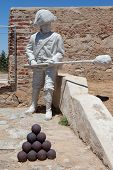 San Cristobal Fort Soldier Statue