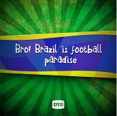 Vector Grunge Background in Brazil Summer Style