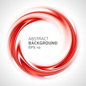 Abstract red swirl circle bright background