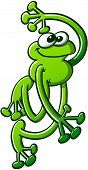 Green frog greeting