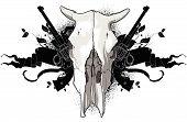 skull cow and guns