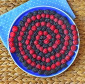 Berry spiral on the plate