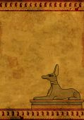 foto of anubis  - Background with Egyptian god Anubis image - JPG