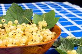 White Currant In Wooden Bowl