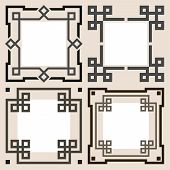 Set of vector frames