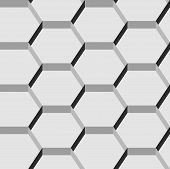 Seamless pattern of hexagons.