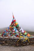Prayer flags on the Himalayas monuntain range