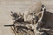 Detail Of The Arc De Triomphe, Paris, Ile De  France, France