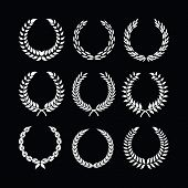 picture of laurel  - vector set of laurel wreaths on isolated background - JPG