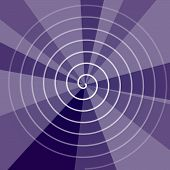 Abstract violet radial background with helix