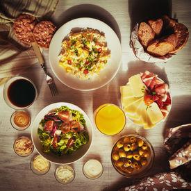 image of continental food  - Fresh breakfast food - JPG