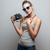 Portrait Of Female Photographer