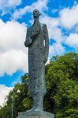 Statue Of King Haakon Vii In Oslo