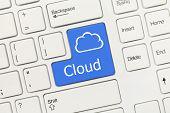 White Conceptual Keyboard - Cloud (blue Key)