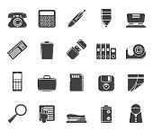 Silhouette Simple Office tools Icons