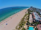 South Florida Beach Aerial View